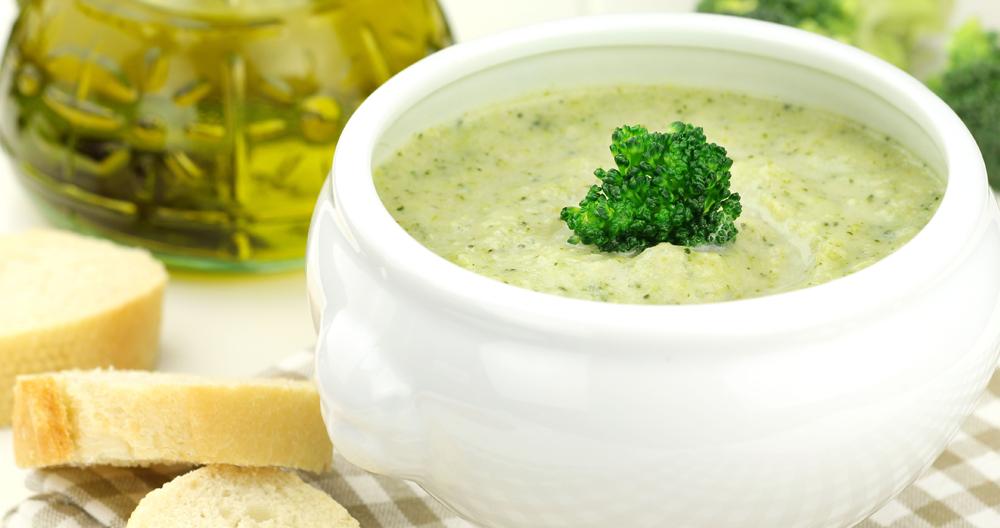 Crema de coliflor y brócoli