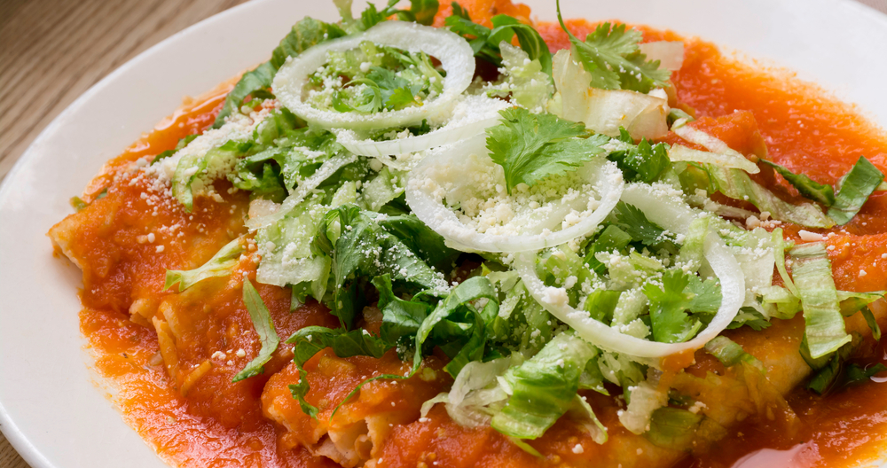 Enchiladas de chile ancho