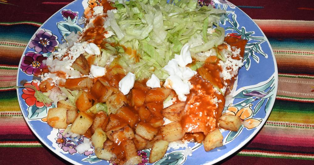 Enchiladas Potosinas estilo Lala