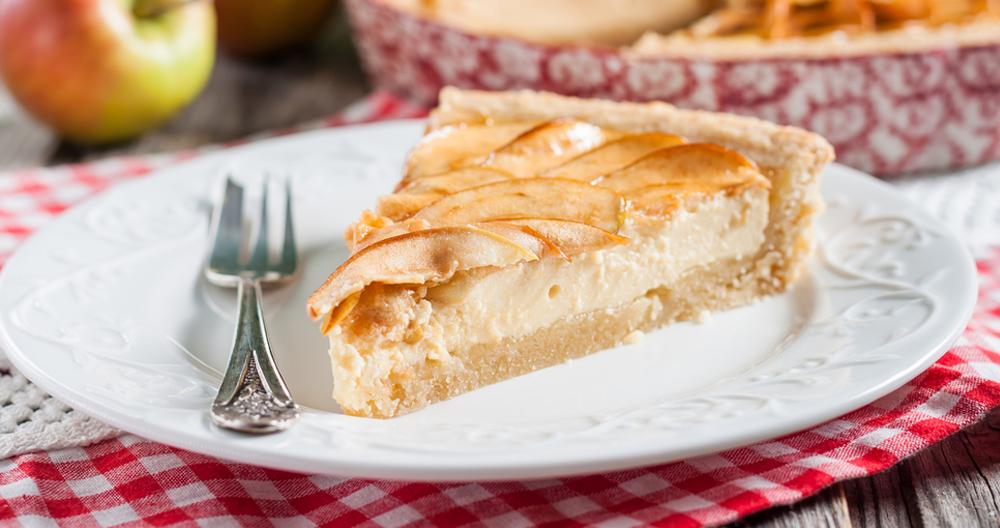 Tarta de manzana con queso Oaxaca