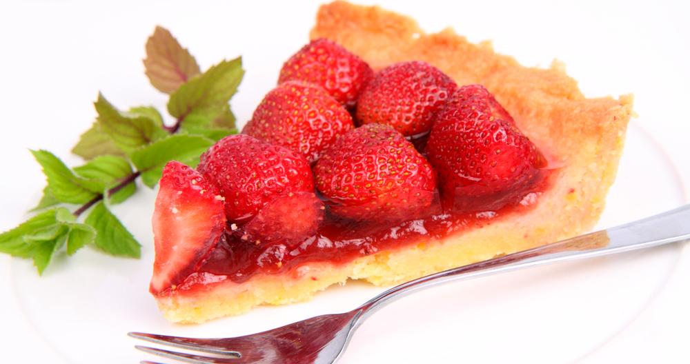 Tarta de fresa con media crema Lala