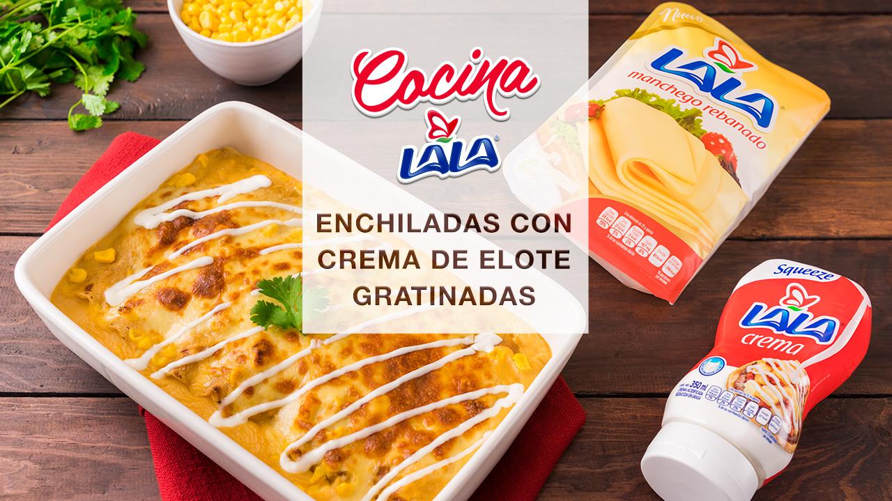 ENCHILADAS CON CREMA DE ELOTE GRATINADAS