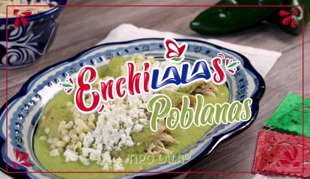 Enchiladas Poblanas con Queso Panela LALA®