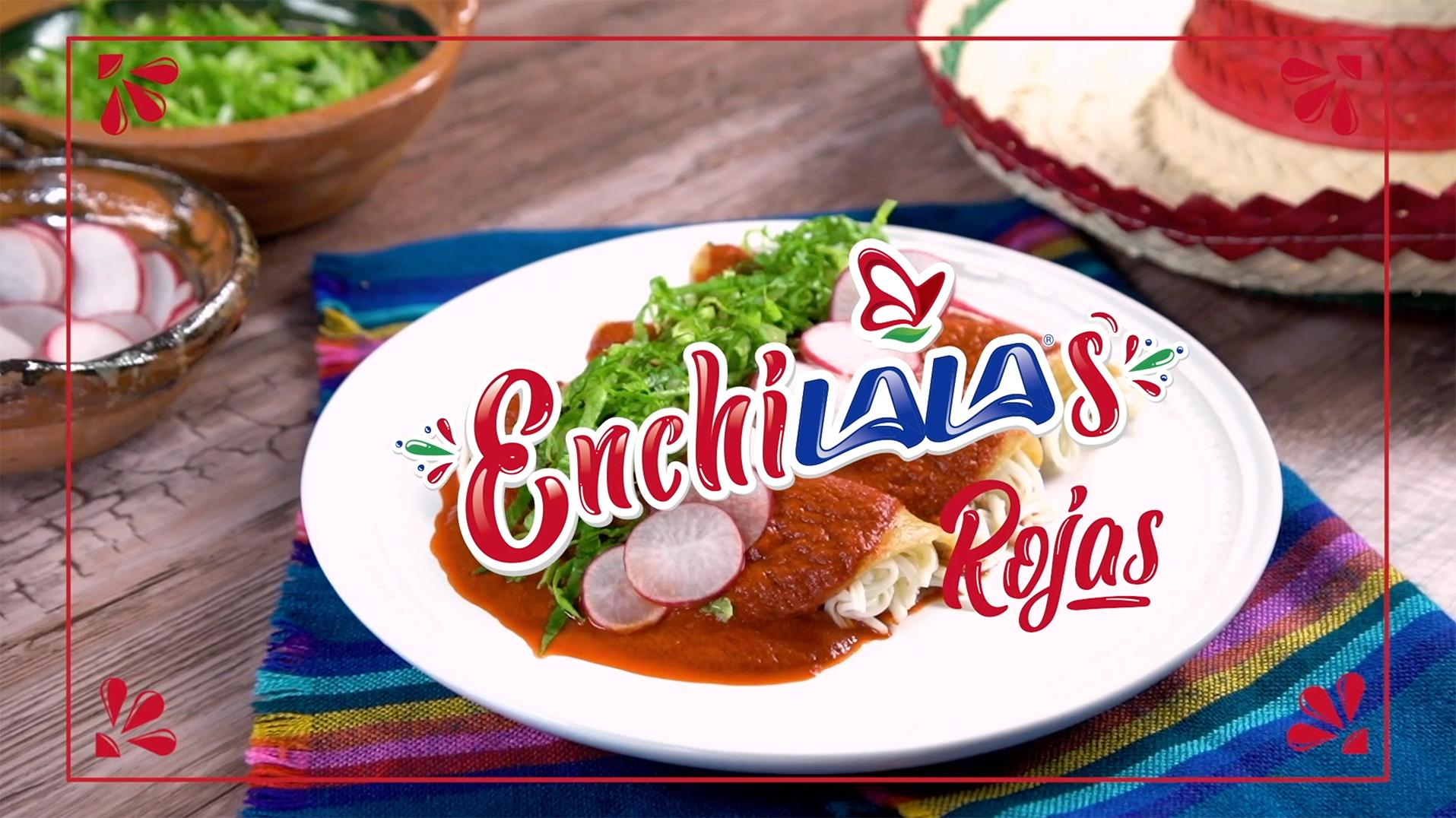 Enchiladas rojas de Queso Oaxaca LALA®