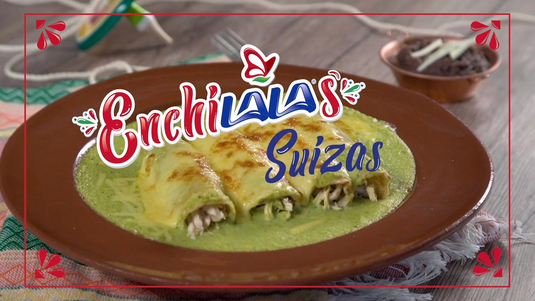 Enchiladas suizas verdes con 2 tipos de Queso tipo  MANCHEGO Y CHIHUAHUA LALA®