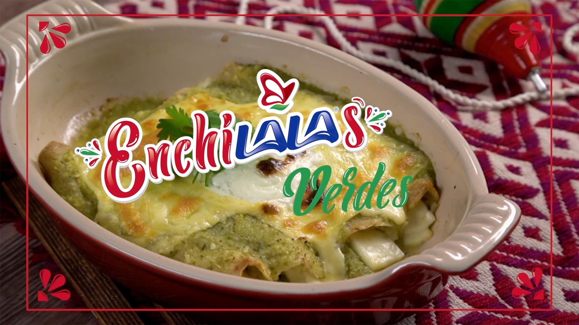 Enchiladas verdes al horno con Queso Manchego y Panela LALA®
