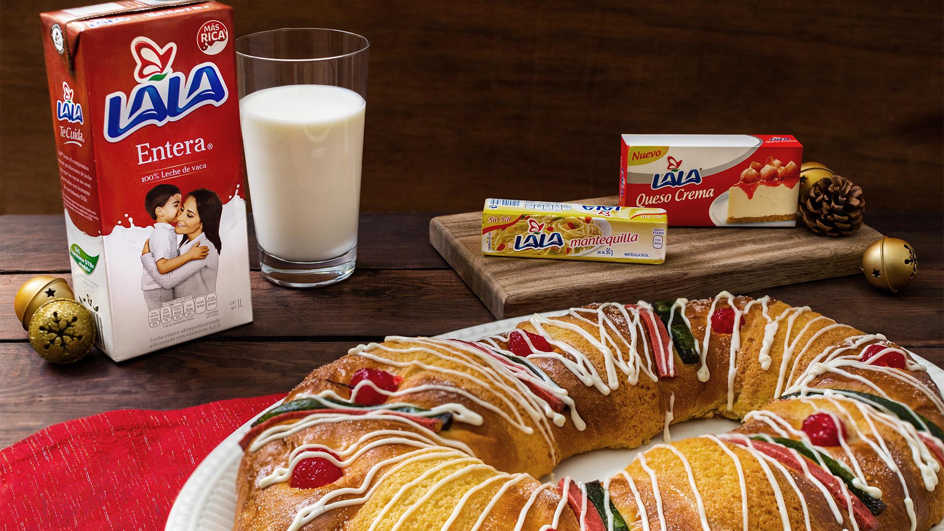 Rosca de Reyes con Queso Crema a la naranja